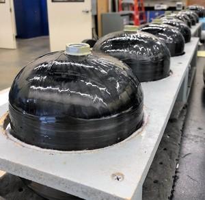 Linerless UAV Composite Pressure Vessels